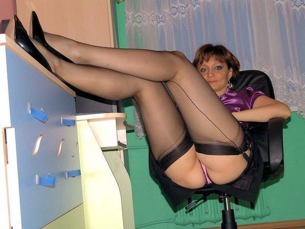 Photo femme mature amateur en bas nylon