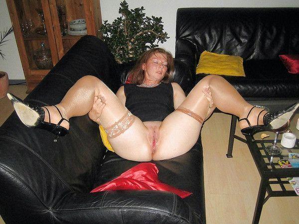 Photo femme mature en bas nylon
